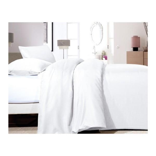 Lenjerie de pat din micropercal Zensation Satin Point, 200 x 200 cm, alb