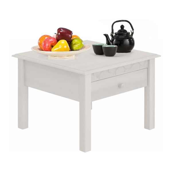 Bílý odkládací stolek z borovicového dřeva Støraa Lando Harry