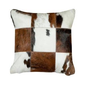 Polštář z pravé kůže Pipsa Normand Cow, 45x45cm