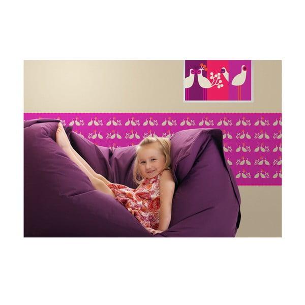 Bordura My little princess 511.5x46.5 cm, růžovofialová