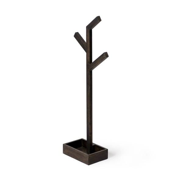 Dřevěný stojan na osušky Wireworks Mezza Dark Branch