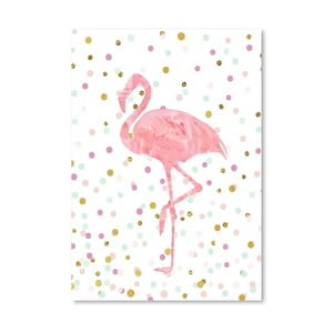 Poster Americanflat Flamingo on Confetti, 30 x 42 cm