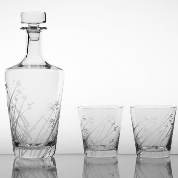 Ateliér Žampach, whisky set Len se dvěma odlivkami 330 ml