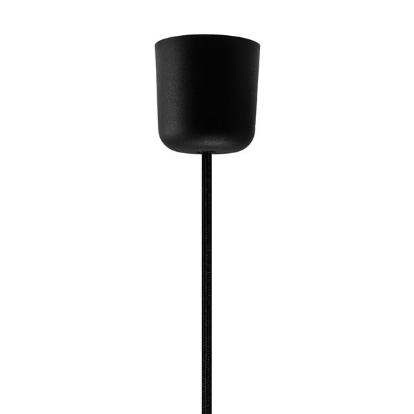 Černé stropní svítidlo s detailem ve zlaté barvě Sotto Luce Mika, Ø40 cm