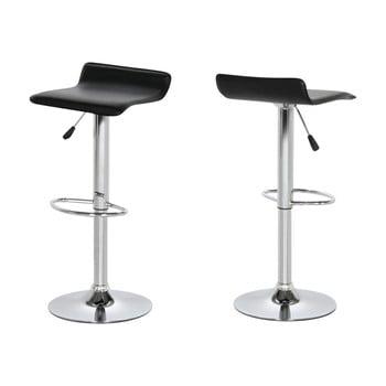 Set 2 scaune bar Actona Dan, negru de la Actona