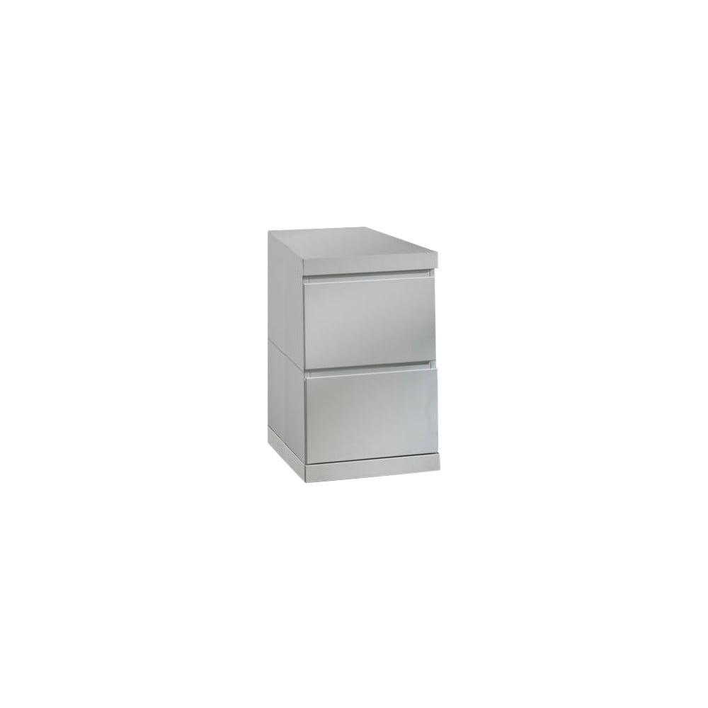 Bílá komoda pod psací stůl Lara Vipack, šířka 40 cm