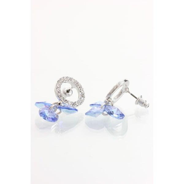 Náušnice se Swarovski krystaly Yasmine Blue Trio