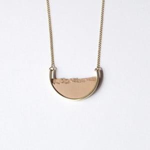 Colier auriu cu pandantiv roz dsnú Curve