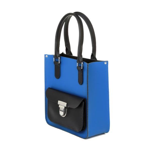 Modro-černá kožená kabelka Brix + Bailey Taylor Mini