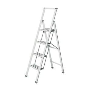 Scără pliantă Wenko Ladder, 153 cm, alb