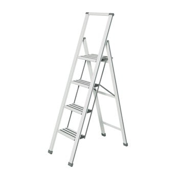 Scără pliantă Wenko Ladder, înălțime 153 cm, alb imagine