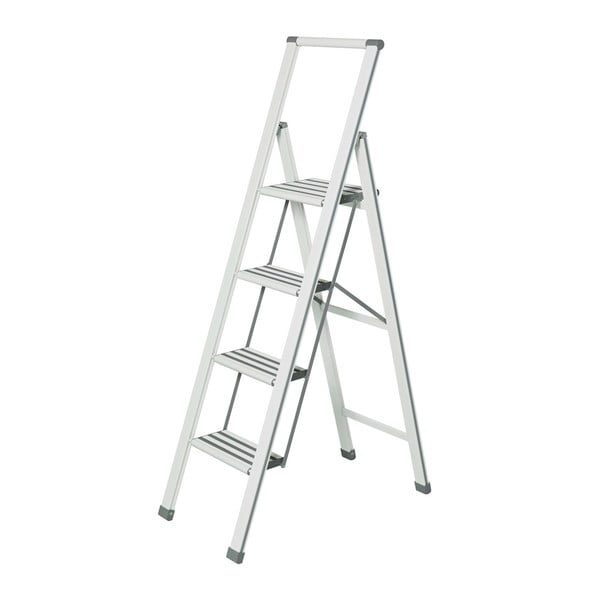 Ladder fehér összecsukható fellépő, magasság 153 cm - Wenko