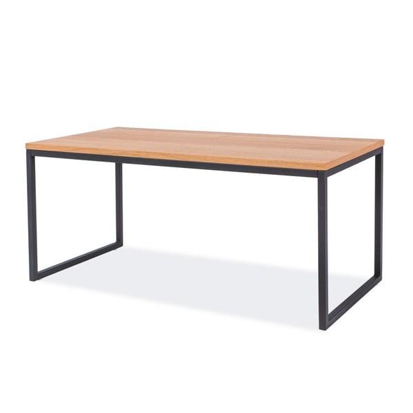 Konferenční stolek s deskou v dubovém dekoru a černou ocelovou konstrukcí Signal Largo, délka100cm