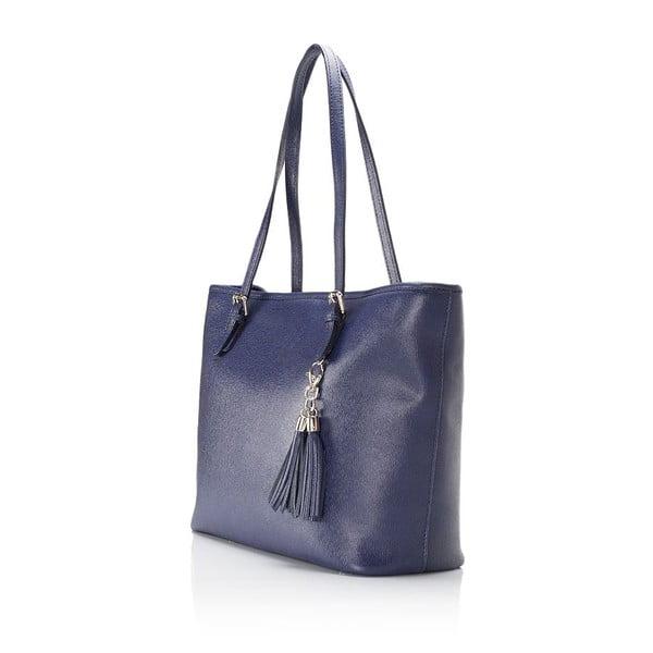 Modrá kožená kabelka Lisa Minardi Arianna