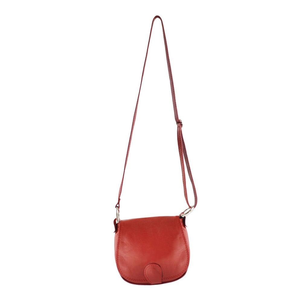 Červené kožené psaníčko Chicca Borse Rossietta