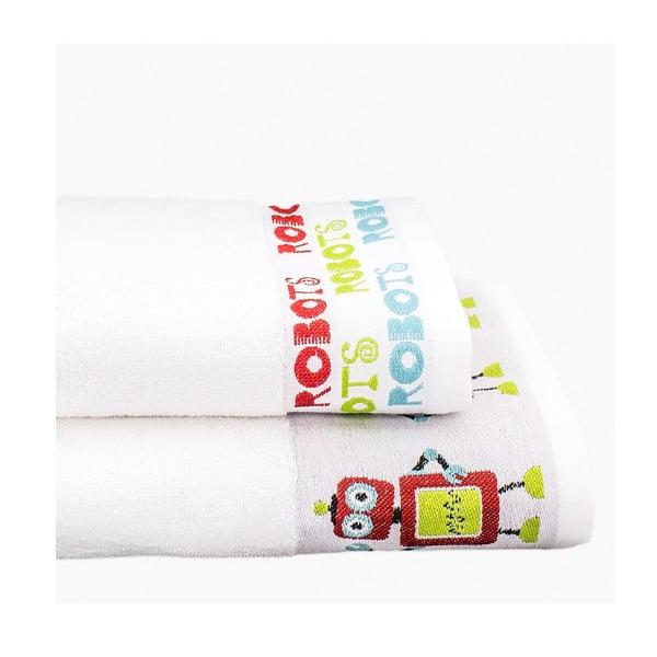 Sada 2 ručníků Robots, 50x100 cm a 70x140 cm