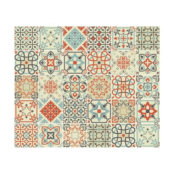 Vérone 30 részes dekorációs falmatrica szett, 15 x 15 cm - Ambiance