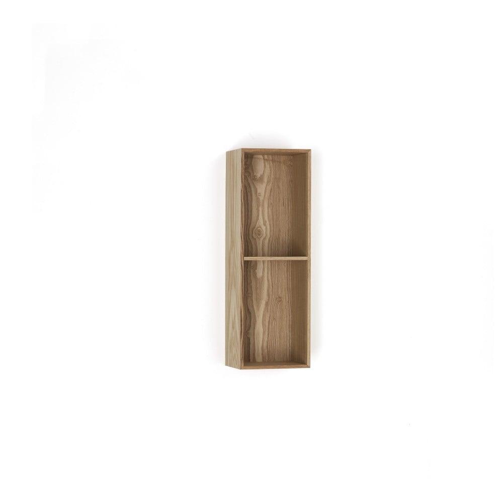 Dřevěná polička s 2 úložnými prostory Tomasucci Billa, 60 x 15 x 20 cm