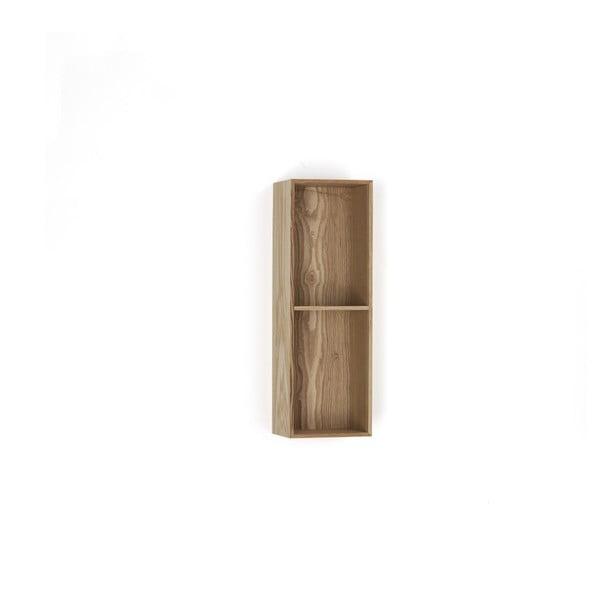 Dřevěná polička s 2 úložnými prostory Tomasucci Billa, 60x15x20cm