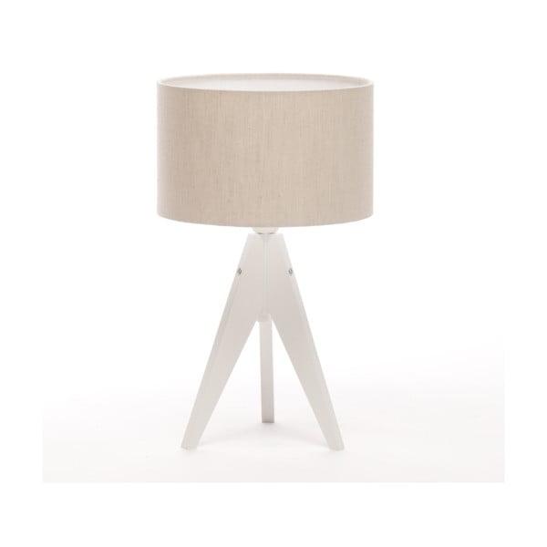 Stolní lampa Artista White/Beige Linnen, 28 cm