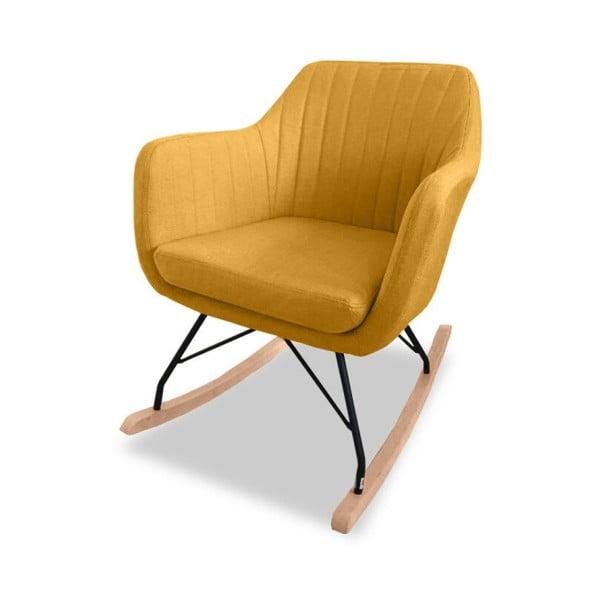 Żółty fotel bujany VIDA Living Kat
