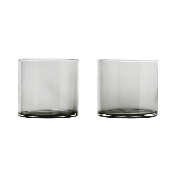 Zestaw 2 czarnych szklanek Blomus Mera, 200 ml