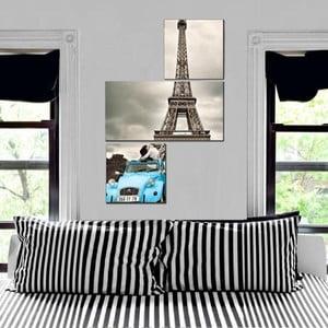 3dílný obraz Asymetric Eiffel, 60x90 cm