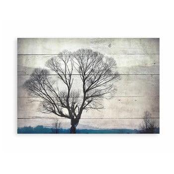 Tablou decorativ din lemn de pin Really Nice Things Tree, 40 x 60 cm