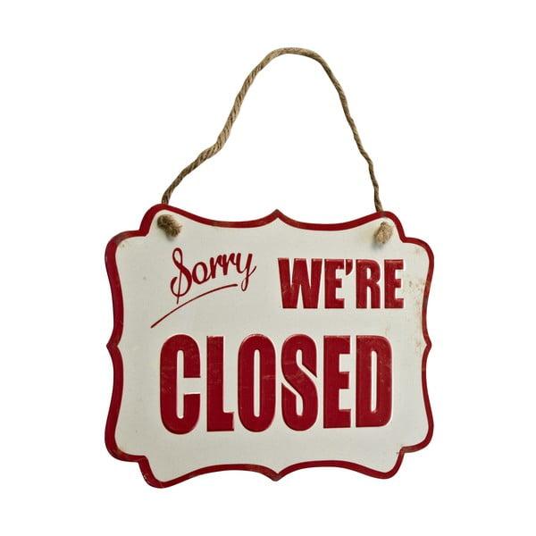 Cedule Sorry, we're closed, 26x19 cm