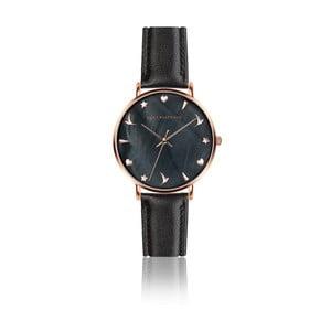 Dámské hodinky s černým páskem z pravé kůže Emily Westwood Noir