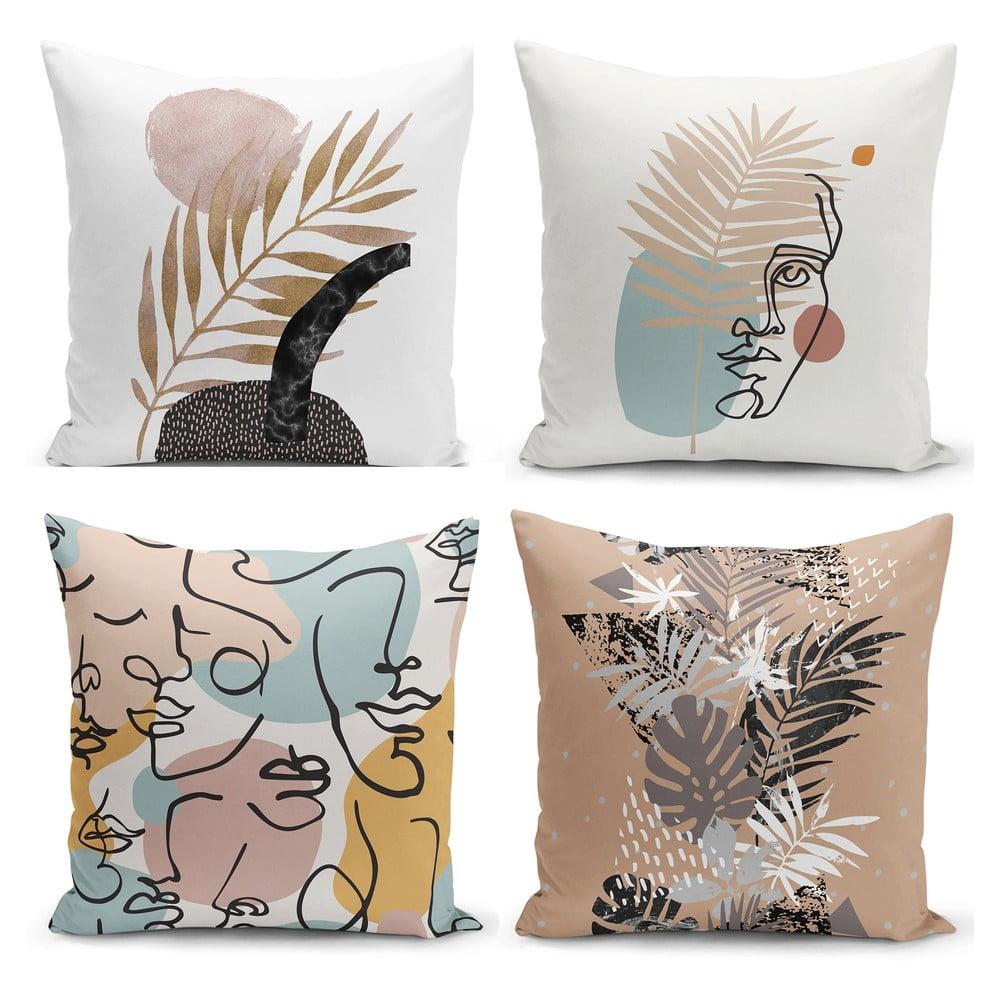 Sada 4 povlaků na polštáře Minimalist Cushion Covers Cesso, 45 x 45 cm |  Bonami