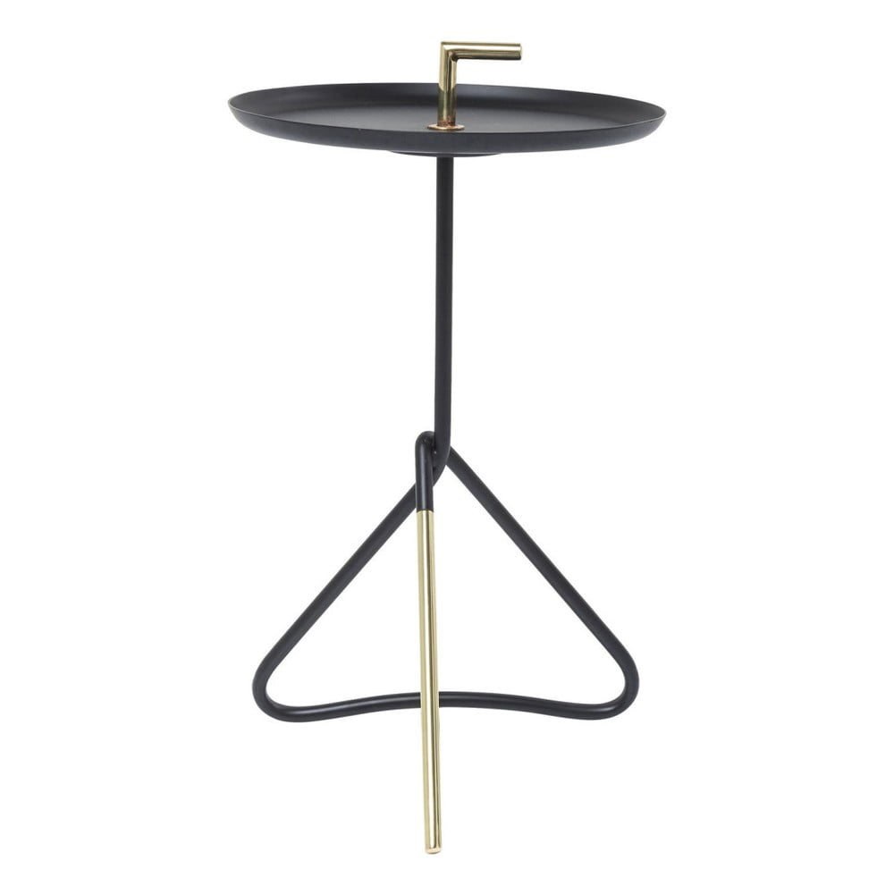 Černý odkládací stolek Kare Design Nodo, ⌀ 30 cm