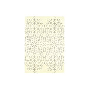 Vlněný koberec Crochet Cream 200x300 cm
