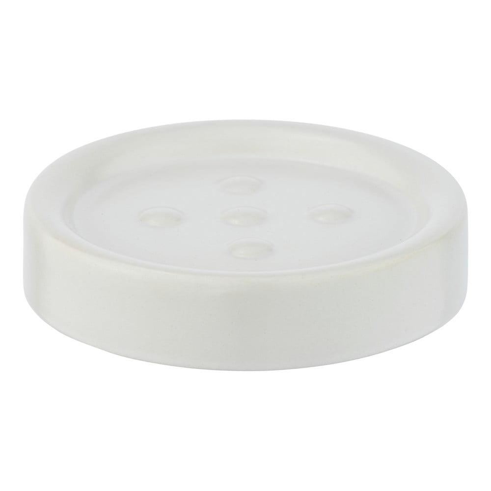 Matně bílá keramická mýdlenka Wenko Polaris