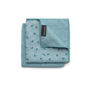 Sada 2 modrých utěrek z mikrovlákna Brabantia Clean