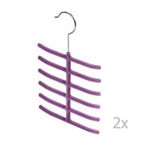 Sada 2 fialových ramínek na kravaty a doplňky Bonita Living