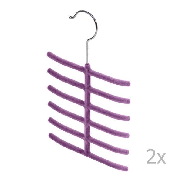 Living 2 db-os lila nyakkendőtartó szett - Domopak
