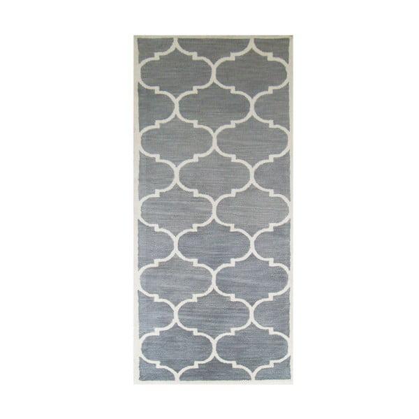 Ručně tuftovaný stříbrný koberec Bakero Florida, 78x244cm