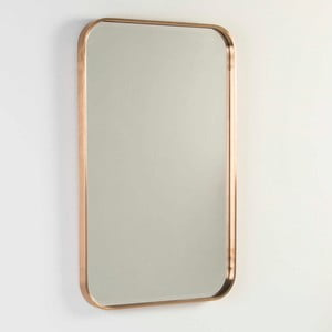 Nástěnné zrcadlo s rámem v bronzové barvě Thai Natura, délka100cm