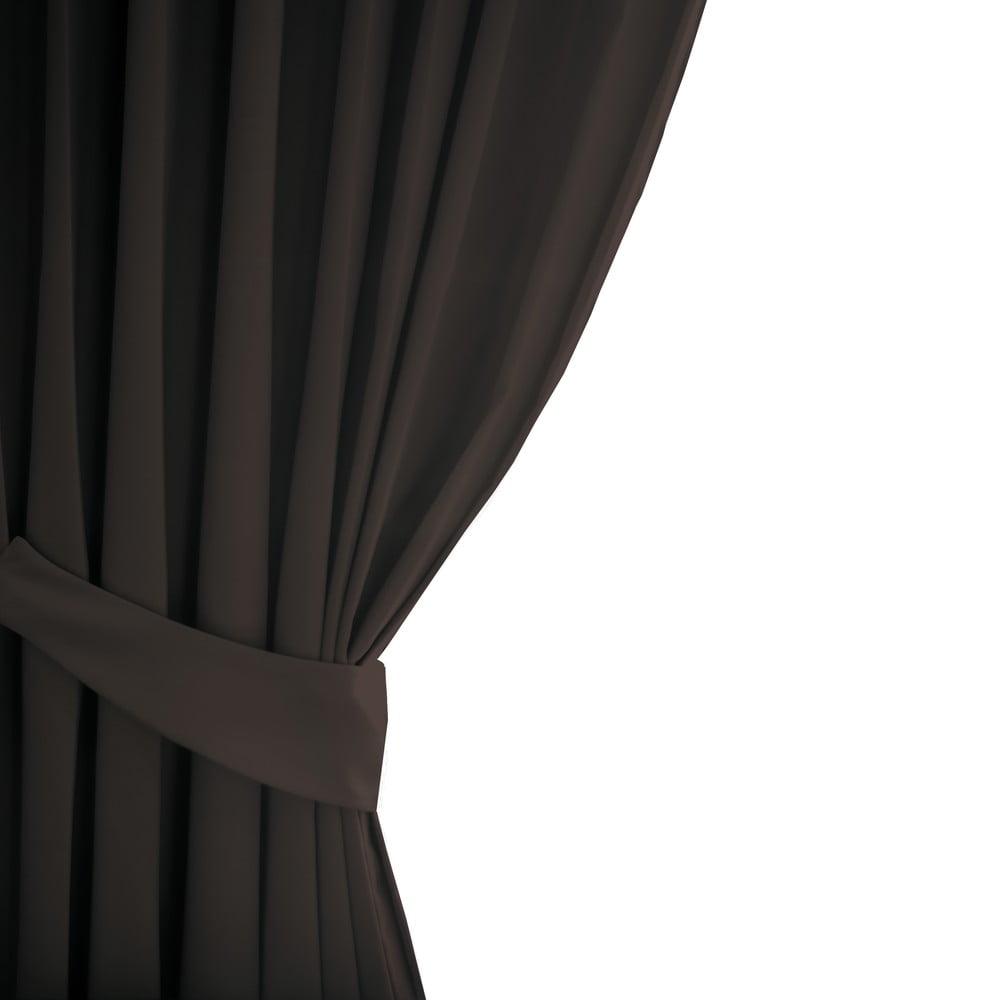 Hnědý závěs AmeliaHome Eyelets Brown, 140 x 245 cm