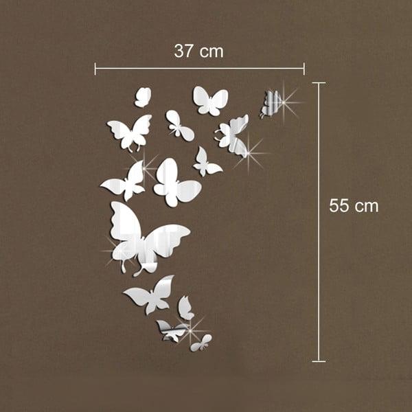 Zrcadlové samolepky na stěnu Motýlci