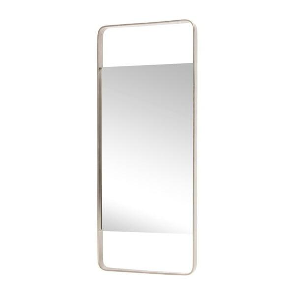 Zrcadlo v rámu se stříbrnou barvou Hübsch Tovi, 31x76cm
