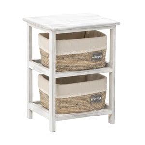 Masă din lemn cu 2 coșuri InArt, 35 x 48 cm