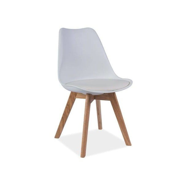 Bílá židle s dubovými nohami Signal Kris