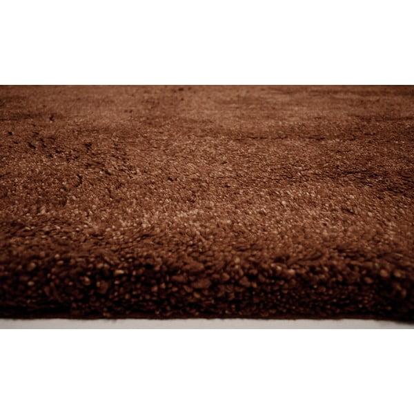 Vlněný koberec Himalaya Choco, 70x140 cm