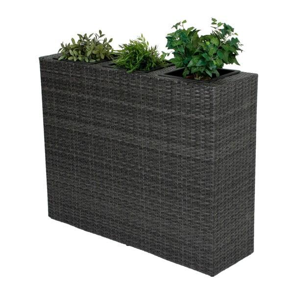 Tmavě šedý zahradní květináč ADDU Room Divider
