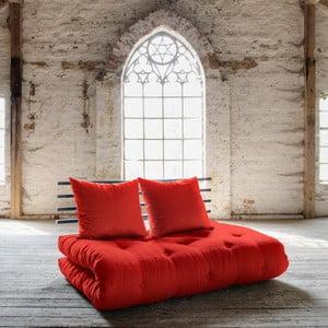 Canapea extensibilă Karup Shin Sano Black/Red