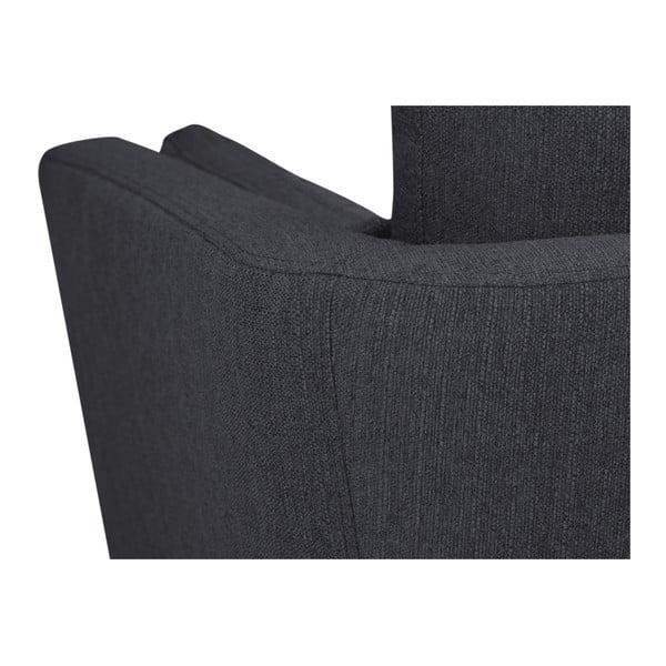 Canapea cu 3 locuri Mazzini Sofas Elena, gri închis