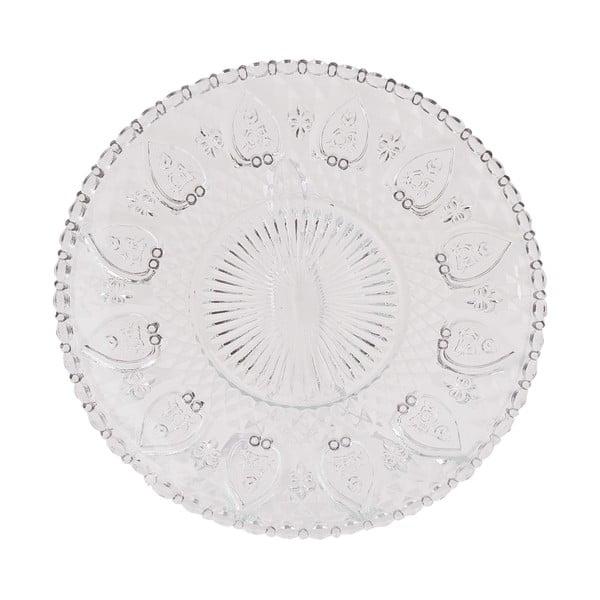Skleněný talíř Clayre Glass, 22 cm