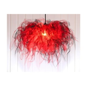 Stropní světlo Ellen Munter vel. L, červené s černým kabelem